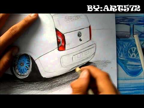 DRAWING Desenhando VW Up Castor Suspensões L.A Design Crew