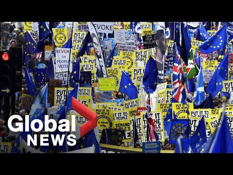 Anti Brexit march takes over London LIVE