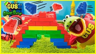 Giant Lego Build Contest ! Who can build the BEST DINOSAUR Moe Vs. Gus