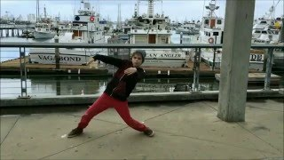 Freestyling in San Diego - Hip Hop Animation Popping on the Embarcadero