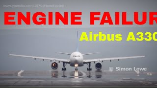 Airbus A330 turbine blade fails with explosive force during takeoff roll.