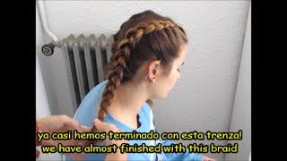 2 trenzas: Trenza de raíz/ Trenza holandesa|| 2 braids: French braid/ Dutch braid