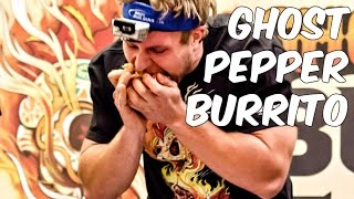 Eating A Ghost Pepper Burrito in 29 Seconds | Furious Pete