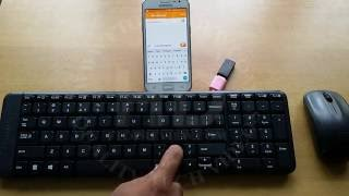 Samsung Galaxy J2 OTG Test Wireless Mouse and Keyboard