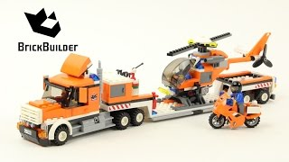 Lego City 7686 Helicopter Transporter - Lego Speed Build