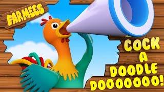 Cock A Doodle Do | Nursery Rhymes Farmees | 3D Rhymes | Kids Song | Baby Rhymes