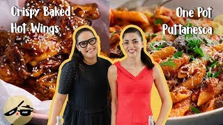 Marion & Silvia Make Kitchen Hacks | One Pot Puttanesca & Crispy Baked Hot Wings | WOK x POT Ep 7