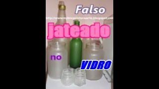Falso jateado  em vidro e plástico...how to make frosted glass using varnish