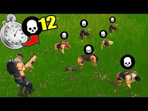 12 KILLS IN 40 SECONDS RECORD in Fortnite Battle Royale