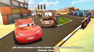 RAYO MCQUEEN cars en español, juego de autos, juegos y videos para niños disney junior