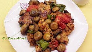 Fırında mantarlı tavuk tarifi - Kolay ve lezzetli tavuk yemeği- Ev Lezzetleri