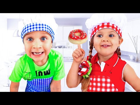 Diana and Roma funny stories for kids about Food English fairy tales