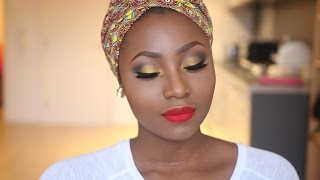 Makeup Tutorial African American Women ✫ Clasic Old Hollywood Vintage Makeup Tutorial HD