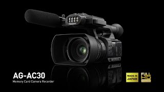 Panasonic AG-AC30 - Palm Camcorder for Business Use with Outstanding Low-Light Characteristics