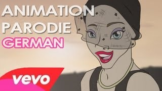 Miley Cyrus - WE CAN'T STOP [Official Video] PARODIE ANIMATION (deutsch)
