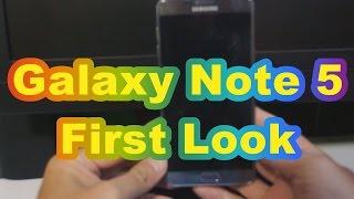 Galaxy Note 5の外観チェック~ギャラクシーシリーズを継承した見た目。SIMカードスロットなし&バッテリー交換不可