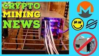 Crypto Mining News   Monero Forks Off ASIC Miners (Again)   Coinbase XLM   Antminer B7 $10+ a day?