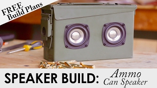 Portable Ammo Can Bluetooth Speaker for $52   FREE BUILD PLANS   DIY Speaker Build