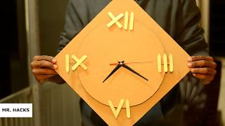 How to make  a Cardboard Wall CLOCK::DIY Project || Easiest way to make ||