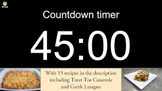45 minute Countdown timer (with alarm)