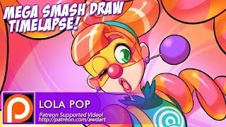 Mega Smash Draw Timelapse - Lola Pop