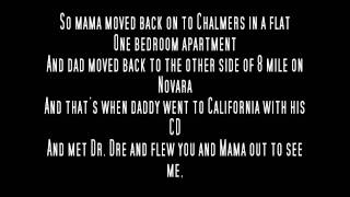 Eminem - Mockingbird Acapella With Lyrics