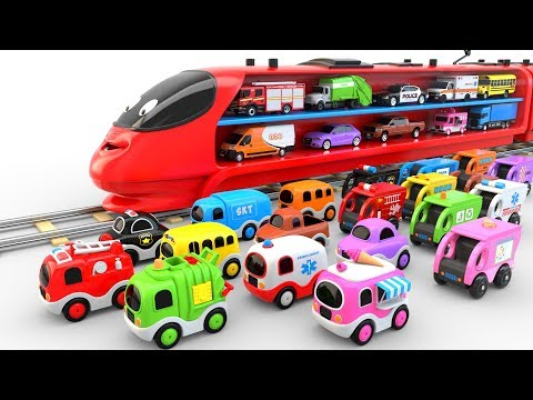 Xxx Mp4 Colors For Children To Learn With Train Transporter Toy Street Vehicles Educational Videos 3gp Sex