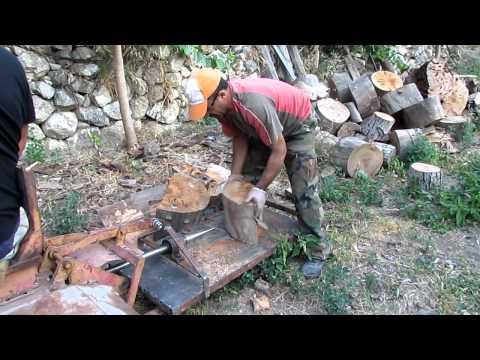 Yeni icat odun yarma makinası