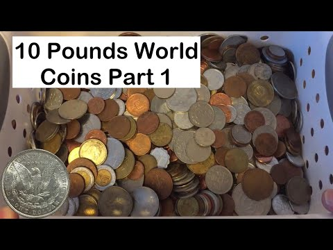 Searching 10 Pounds of Mixed World Coins Segment 1