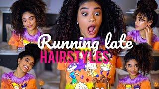 Running Late Hairstyles - Curly Hair   jasmeannnn