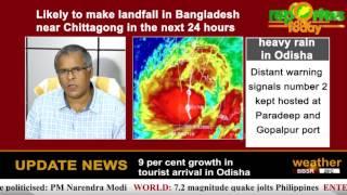 Cyclone storm Mora likely to cause heavy rain in Odisha