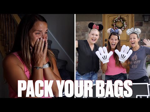 SURPRISING MY WIFE WITH A GIRLS TRIP TO DISNEYLAND FOR HER BIRTHDAY MOM EMOTIONAL DISNEY SURPRISE