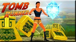 Tomb Runner game. Lara Bones gaming
