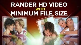Proshow Producer -  How To Rander HD Video With Minimum File Size  Urdu and Hindi