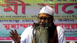 ইসলামী সম্মেলন ২০১৭, মেহেরপুর : প্রফেসর ড. মুহাম্মাদ আসাদুল্লাহ আল-গালিব