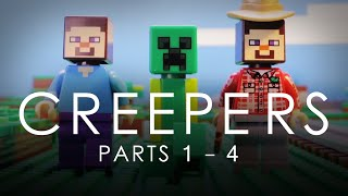 LEGO Minecraft: Creepers COMPLETE Vol. 1 Movie (Parts 1 - 4)