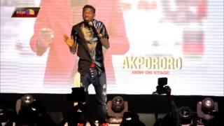 akpororo cracks joke on president buhari at kiss daniel album launch