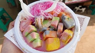 Indian Street Food - RAINBOW ICE CREAM Kulfi, Falooda, Ice Gola