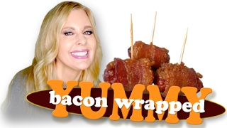 THE BEST 3 INGREDIENT APPETIZER EVER! Bacon Wrapped Little Smokies - Recipe & Demo