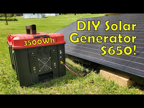 Building a 3.5kWh DIY Solar Generator for 650 Start to Finish