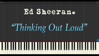 Ed Sheeran - Thinking Out Loud (Piano Tutorial Synthesia)