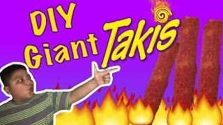 DIY Giant Takis | how to make HUGE Takis chips| how to make takis