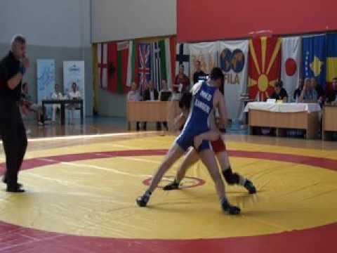 65 kg. Veselin Petrov (BUL) vs Raif Kamberi (MKD), XXXX Macedonian Pearl 03.06.2016, Skopje