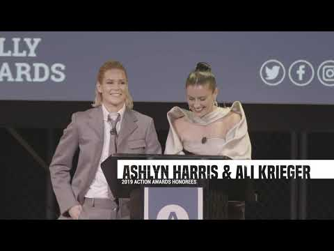 6th Annual Athlete Ally Action Awards Ali Krieger and Ashlyn Harris