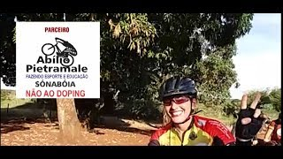 Poeirão diverte bikers em pedal com hidratação e alimentação gratuita
