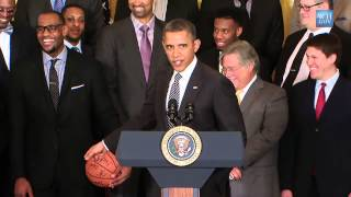 NBA Champs Miami Heat At White House - Full Video