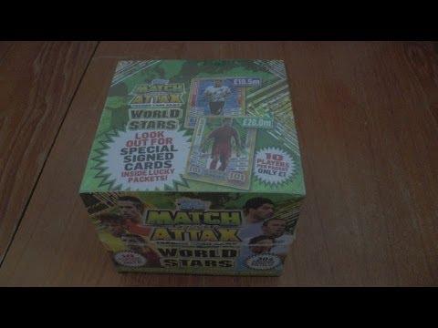 BOOSTER BOX BREAK ☆ MATCH ATTAX WORLD STARS 2014 Trading Cards topps OPENING ☆ HD