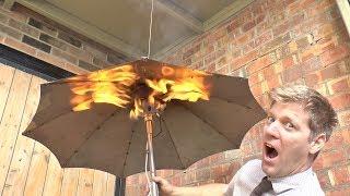 Gas Heated Umbrella - Because British Weather
