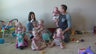 How Parents Juggle Raising America's Only All-Girl Quintuplets As They Turn 1