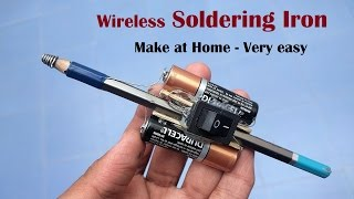 Make a Wireless Soldering Iron at home | Instant Heating | Life hacks